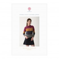 Striped Eyelet Chevron Jumper Pattern