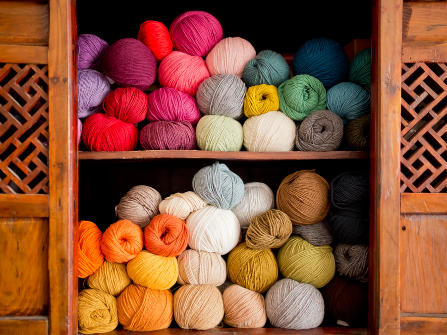 Yarn in Cupboard