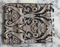 Labrocade Clutch - Black and Gold