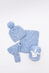 Cosy Cable-Knit Set Kit Digital Pattern(Grace or Meadow)