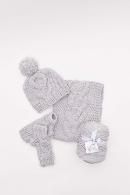 Cosy Cable-Knit Set Kit (Meadow)